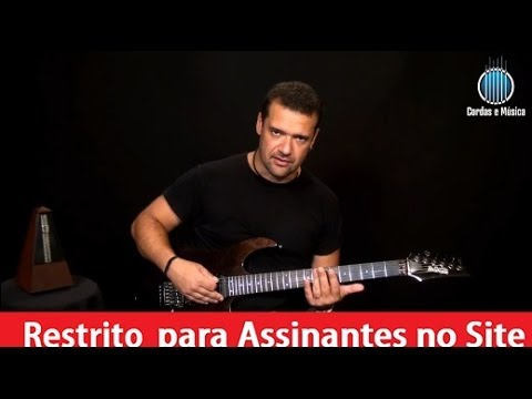 guitarra exercicios com as escal