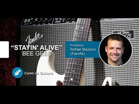 guitarra stayin alive bee gees a