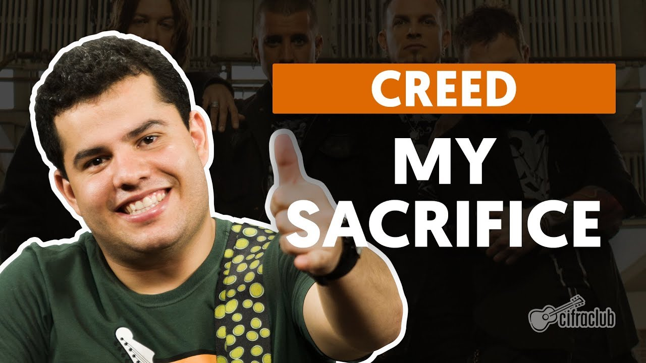 my sacrifice creed aula de guita
