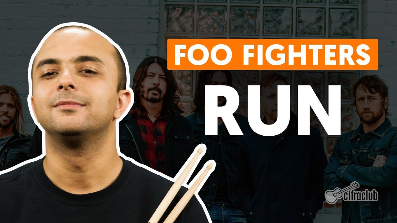 run foo fighters aula de bateria