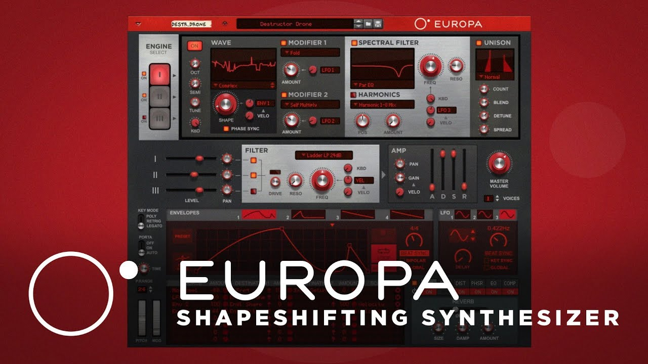 europa shapeshifting synthesizer